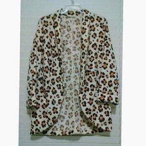 LUSH Floral open blazer jacket